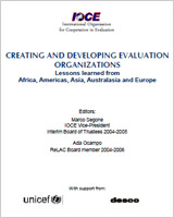 Creating and developing evaluation organizations